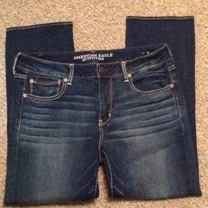 New American Eagle Straight Jeans Size 14 Short